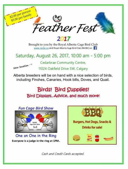 Featherfest 2017 Information poster
