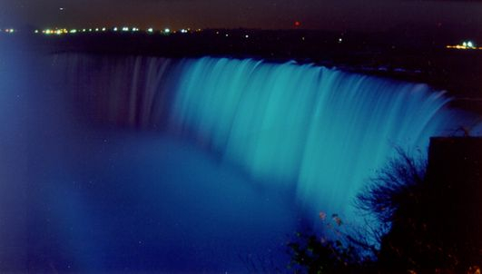 Niagra Falls, Lighting it up Blue!