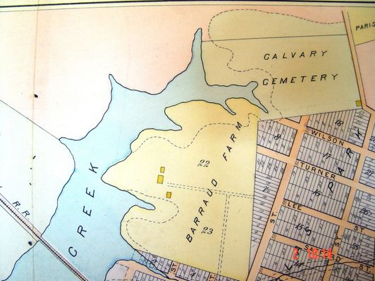 Map of Calvary Circa 1900