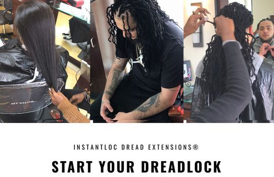 Braids By Bee starts dreadlocks with any type hair texture with InstantLoc Dread Extensions methods giving you a complete Hair Transformation.