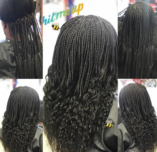 Braids By Bee does micro braids with synthetic hair