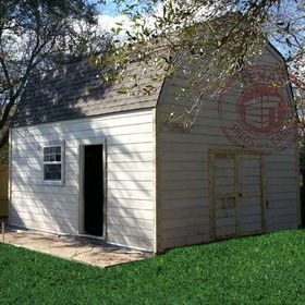 basic barn shed with door and window