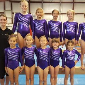 Xcel Competitive Team with Coach Emily