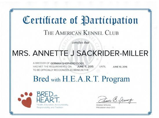 appleridge heart breeder german shepherd dog america