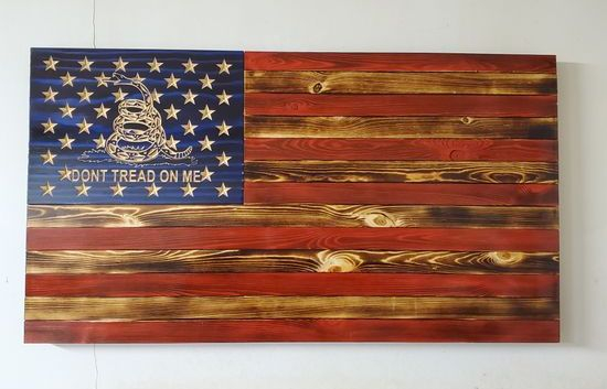 """36"""" Traditional Flag Don't Tread on me"""