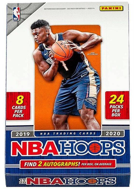 2019-20 Panini NBA Hoops Hobby Box $199.95