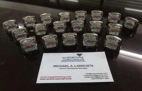 customized football championship rings