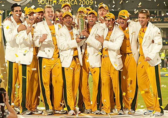 Champions Trophy 2009: The Australian team celebrate their ICC Champions Trophy victory.