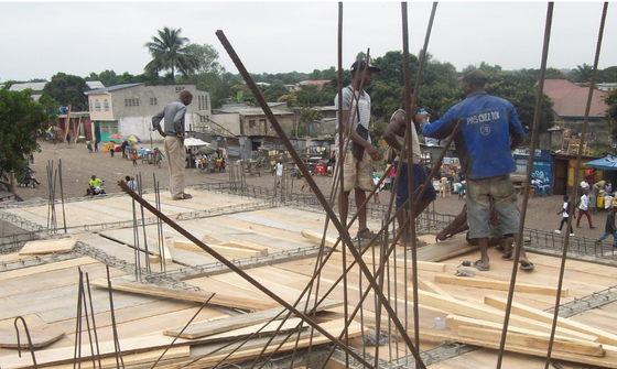 Construction of new school at ARD in Congo