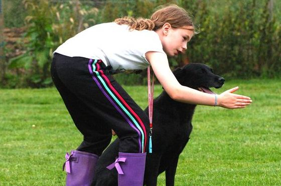 Young handlers learning new skills
