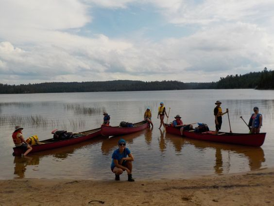 Canoe lessons and beach fun