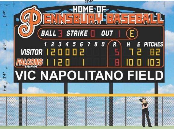 Thanks to the fundraising efforts of the Pennsbury Baseball Parents Club and the support of our community, families, and alumni, our brand new scoreboard will be installed soon!