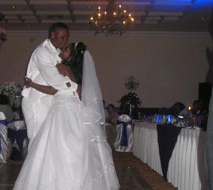 Wedding Day Picture of Bride and Groom
