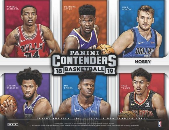 2018-19  Contenders Basketball Hobby Box