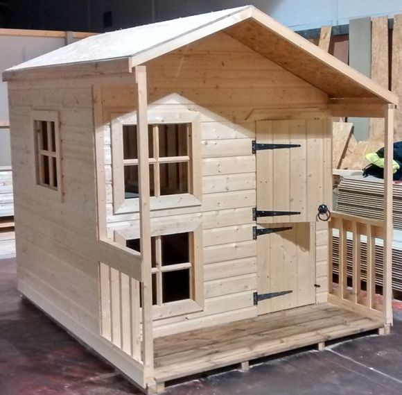 Max timber sheds for Wooden playhouse with garage