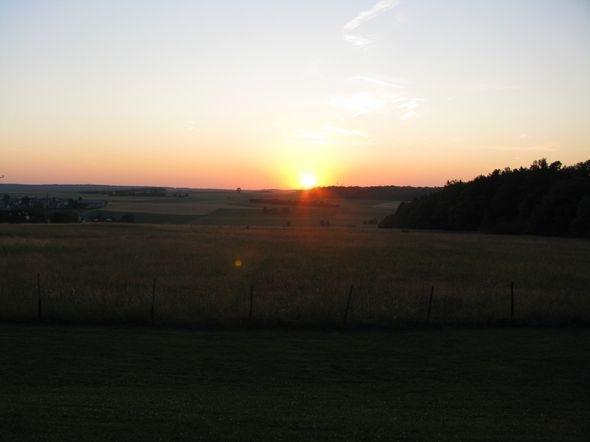 Sun going down on Dichtelbach, Germany
