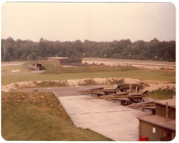 looking from C-S to  Bravo  Section Launcher Area Nike Hercules Missile Site  Delta 2-1- ADA -32nd AADCOM, Dichtelbach, Germany.