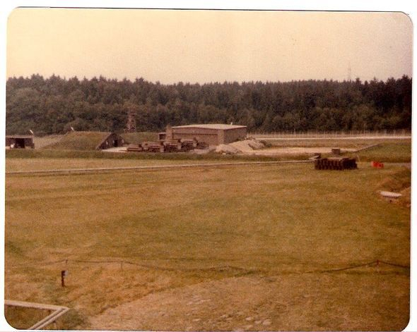 looking from C-S to  Alpha Section Launcher Area Nike Hercules Missile Site  Delta 2-1- ADA -32nd AADCOM, Dichtelbach, Germany.