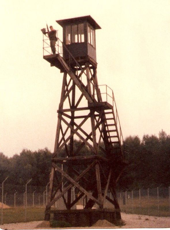 MP on guard duty Bravo Section Launcher Area Nike Hercules Missile Site  Delta 2-1- ADA -32nd AADCOM, Dichtelbach, Germany.