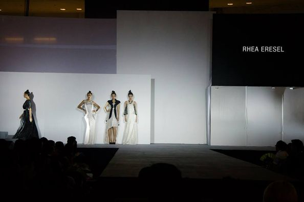 Final project during Fashion Institute of the Philippines graduation, the first of many fashion shows to come for Eresel.