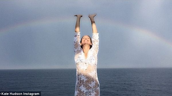a rainbow to touch, as Kate Hudson discovers