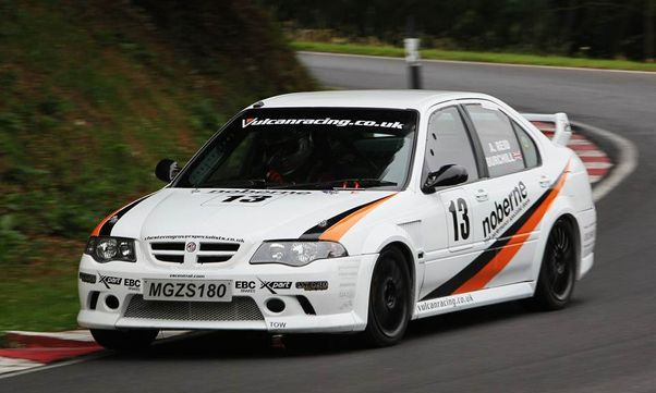 MGZS Race car - in action Cadwell Park Vulcan Racing No 13