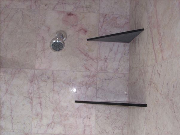 Granite shower shelves