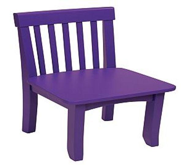 Cadeira  laqueada em roxo