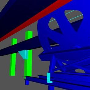 Bullwheel structure 3D model from 3D scanner