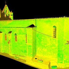 Exterior scanner of church