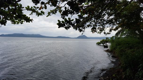 Talisay Resort Property along Taal Lake for sale. with view of Taal Volcano.