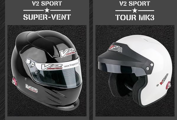 Vulcan Racing Value in Motorsport V2 Sport product range with hans posts Fia Sa2105 helmets race rally