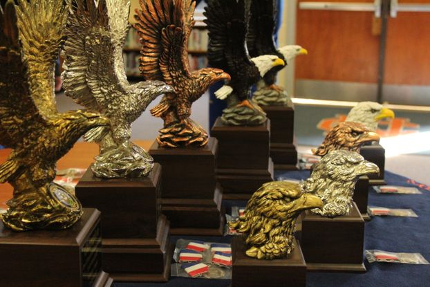 Brain Brawl Trophies lie and wait for their owners to take them to there final resting ground.