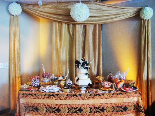 Your dessert display can become a great focal point in the room and play into the overall décor and theme