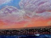 seal beach pier painting