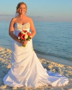 beach wedding, calla lily & gerbera daisy bridal bouquet