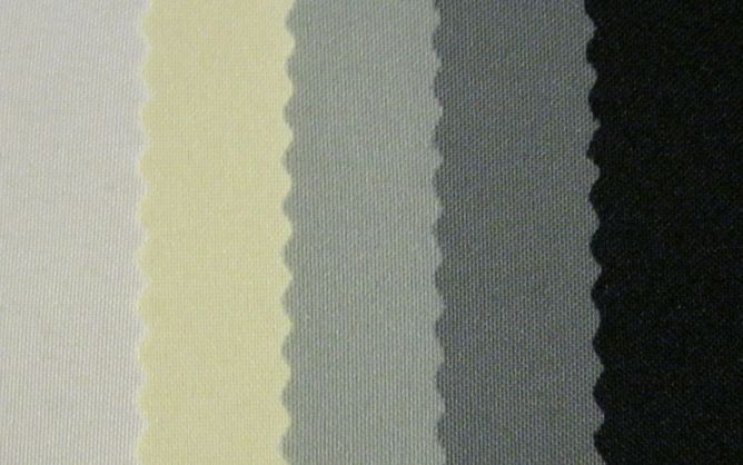 (left to right) White, Ivory, Silver, Grey, Black
