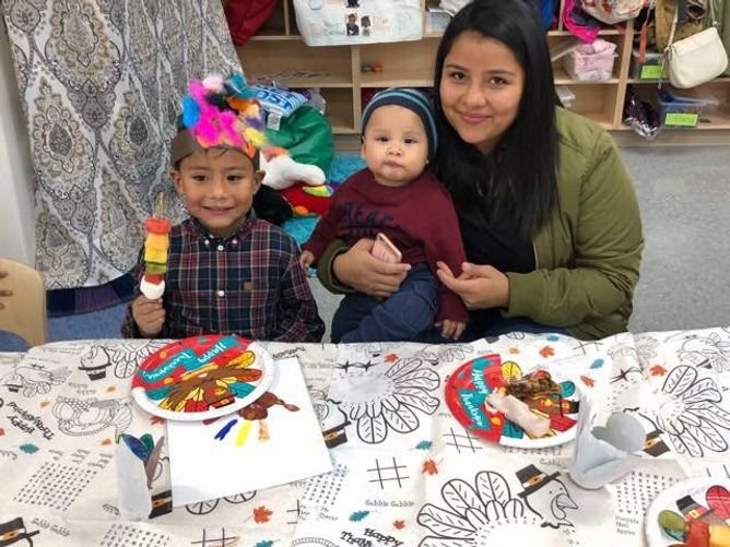 """As part of our """"All About Us"""" unit, children and their families participated in a Multicultural Thanksgiving Celebration. Families shared traditional food from their cultures, and we explored how our different cultures make us unique and special. Thank you to all of our families who came and celebrated with us!"""