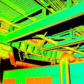 3D scanner to structure and pipes identification