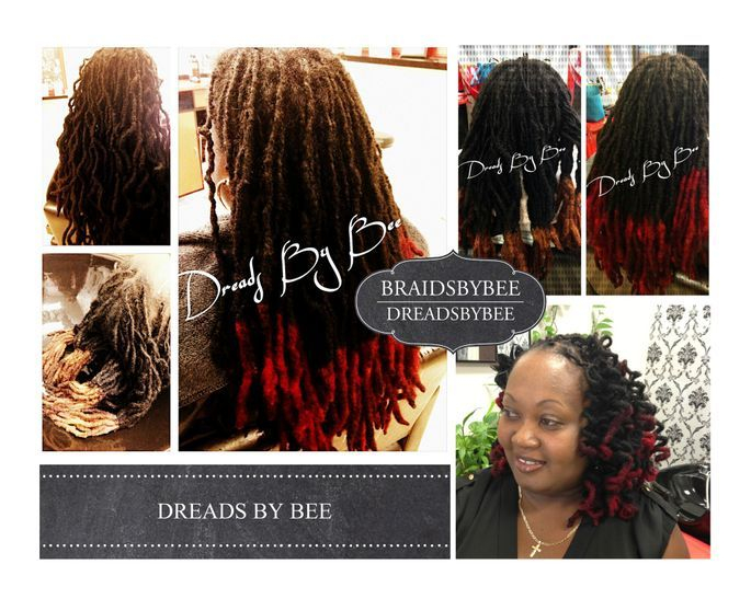 Braids by Bee caters to natural dreadlocks will wash, condition, color and retwist roots and style as desired.