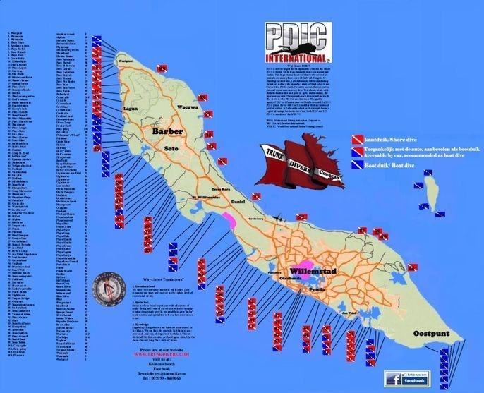 Duik kaart Curacao