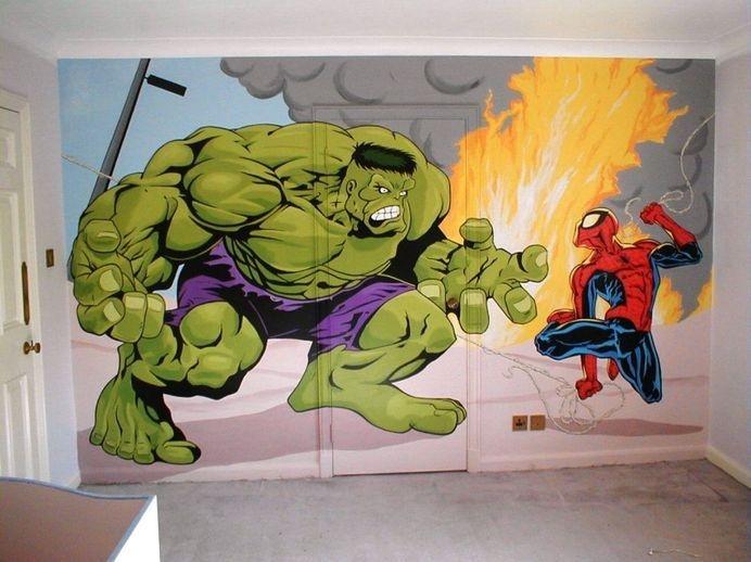 Comic art murals for Comic book mural