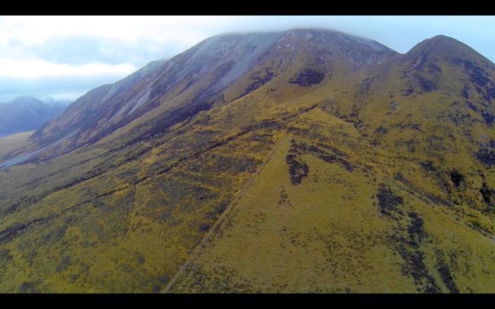 Beautiful mountain near Christchurch, New Zealand