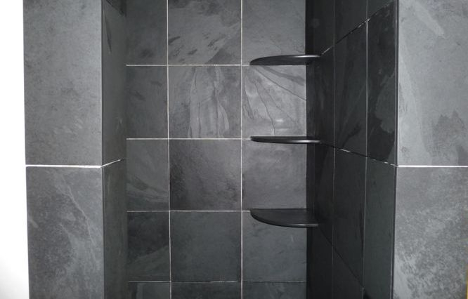 Slate Shower shelves