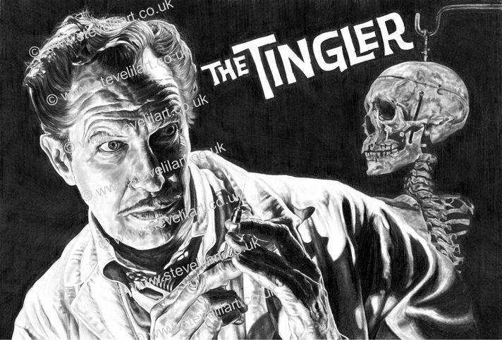 Vincent Price/The Tingler artwork by Steve Lilly, stevelilart