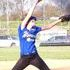 Allison pitching softball