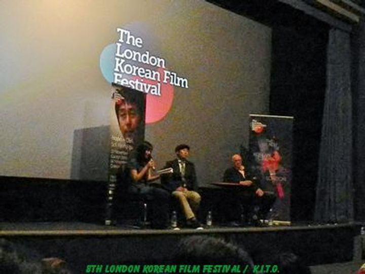 Sol Kyung-Gu takes to the stage for a Q&A after the screening of HOPE.