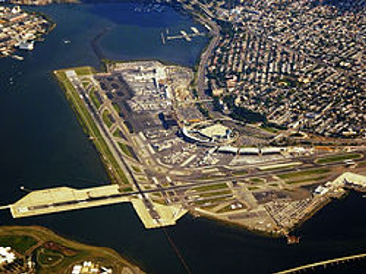 Aerial view of flying in a plane and taking a taxi to Wantagh Long Island