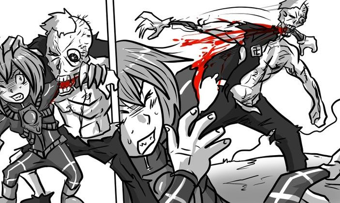 Ze'ro vs Zombies Comic Panel one