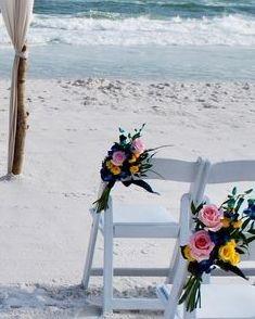 Tropical beach wedding in Fort Walton Beach